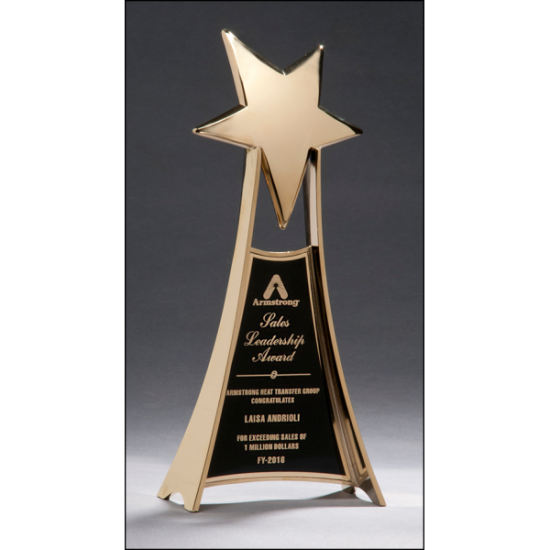 Engraved Plaque Award Recognition Award High Gloss Black Stained Plaque with Gold Florentine Border Plate with Optional Custom Engraving
